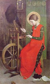 marianne_stokes_st_elizabeth_of_hungary_spinning_for_the_poor